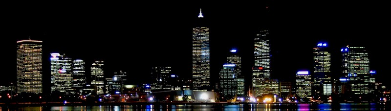Perth at night. Perth Western Australia is a great place, give it a chance and what a fantastically, spectacular place it could be.